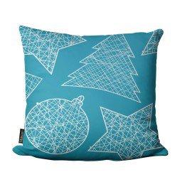 almofada natal enfeite arvore estrelas azul mdecore nat4060 3