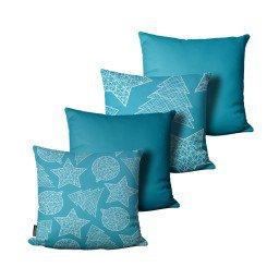 kit almofada natal arvore enfeites estrela azul mdecore nat4060 kit 4