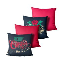 kit almofada natal sino verde vermelho mdecore nat4062 kit 4