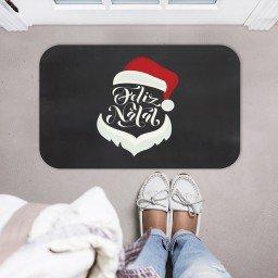 tapete decorativo natal preto feliz natal papai noel mdecore tprn0007 2