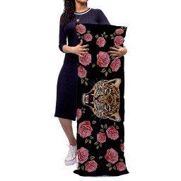almofada gigante tigre rosas preto mdecore alg0059 2