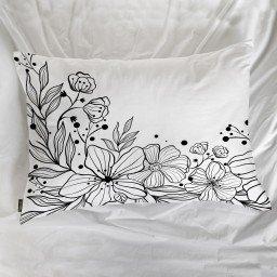 fronha avulsa flores branco mdecore frn0090 3