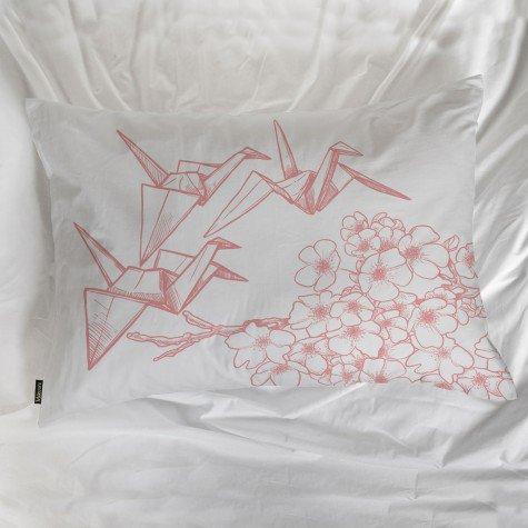 fronha avulsa origami flores passaro cinza mdecore frn0032 3