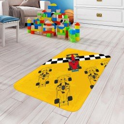 tapete de atividades infantil carrinho corrida amarelo tpinf0020 2