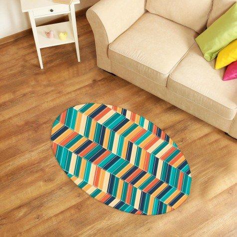 tapete oval decorativo listra colorido tpov0025 2