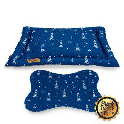 colchonete para cachorro tapete pet farol ancora azul cht1030 2