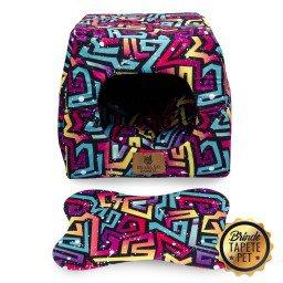toca para cachorro gato caminha geometrico tapete pet roxo azul toc1001 3