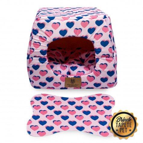 toca para cachorro gato caminha coracao rosa azul toc1002 3