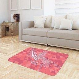 tapete sala geometrico passaro rosa tpdec0018 3