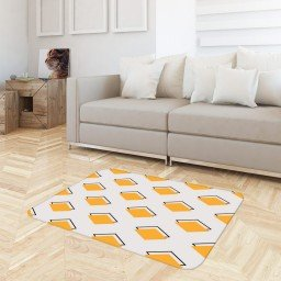 tapete sala geometrico amarelo off white tpdec0021 3