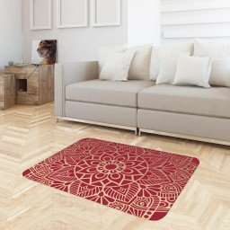 tapete sala flores mandala vermelho tpdec0024 3