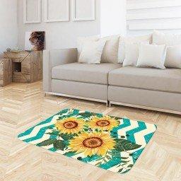 tapete sala chevron girassol branco verde tpdec0030 3