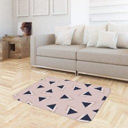 tapete sala triangulo abstrato rosa claro tpdec0035 3