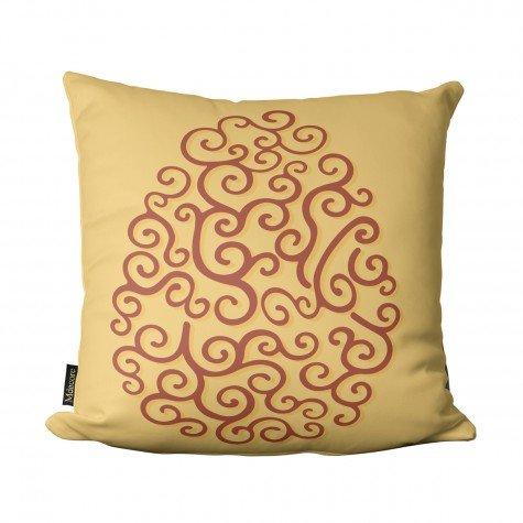 almofada de pascoa ovo arabesco amarelo pas1013 2