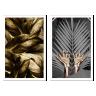 kit quadros folhas douradas 2cm 40 x 60 qua2007 br