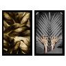 kit quadros folhas douradas 2cm 40 x 60 qua2007 pt