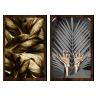 kit quadros folhas douradas 2cm 40 x 60 qua2007 tb