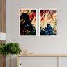 kit quadros paisagem estilo pintura a oleo 2cm 40 x 60 qua2006 2 br