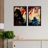 kit quadros paisagem estilo pintura a oleo 2cm 40 x 60 qua2006 2 pt