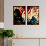 kit quadros paisagem estilo pintura a oleo 2cm 40 x 60 qua2006 2 tb