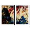 kit quadros paisagem estilo pintura a oleo 2cm 40 x 60 qua2006 br