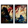 kit quadros paisagem estilo pintura a oleo 2cm 40 x 60 qua2006 pt