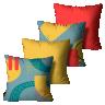 kit almofadas primavera verao abstrata colorido 45 x 45 pv6544 kit