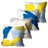 kit almofadas primavera verao abstrata french blue e illuminanting 45 x 45 pv6537 kit