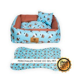 cama pet sorvete azul personalizada cs2014